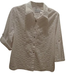 Alfred Dunner Button Down Shirt White