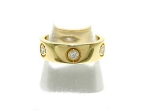 Cartier 18k Yellow Gold with 6 Diamonds 'love' Band. 61 Eur. Ring