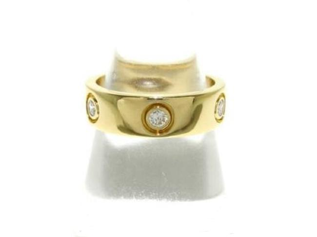 Item - 18k Yellow Gold with 6 Diamonds 'love' Band. 61 Eur. Ring