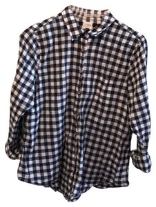J.Crew Button Down Shirt Navy/White
