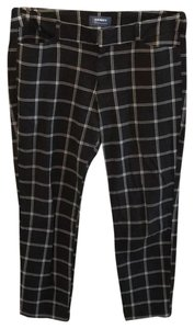 Old Navy Straight Pants Black/White