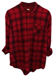 A New Day Button Down Shirt Red/Black