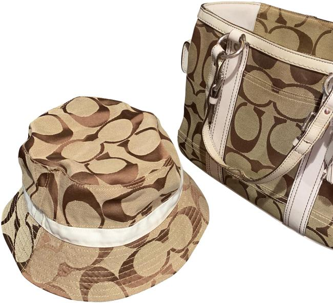 Item - Tan & White Bucket Hat