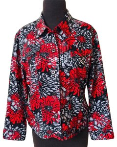 Macy's Winter Fall Floral red Jacket