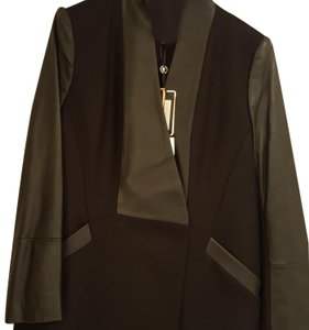 cb353f66d9 Ted Baker Black leather and cashmere, just past knee length coat. Leather  Jacket