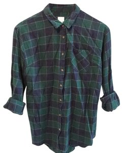 A New Day Button Down Shirt Navy/Green