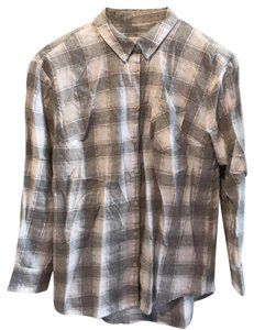 A New Day Button Down Shirt Gray