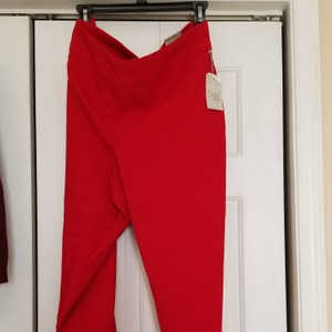 Dalia New With Tags Plus-size 18w Capris Red