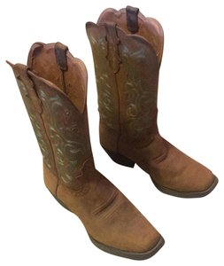 Justin Boots Leather- sorrel Apache Boots