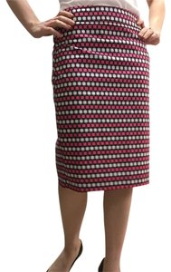 Ann Taylor Skirt Pink, purple, white, black, tan