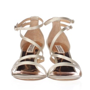 Badgley Mischka Beige Platforms