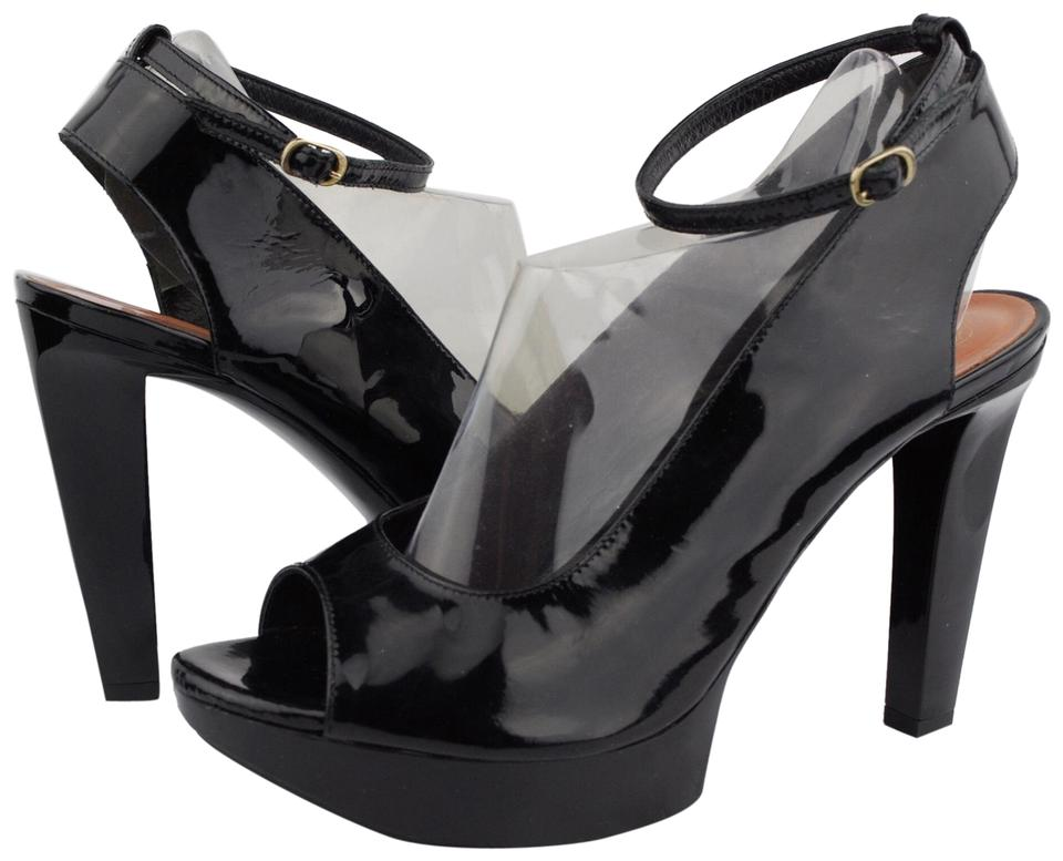 32013a36de Robert Clergerie Black Women's Peep Toe Platforms Heels Pumps Size ...