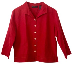 Oleg Cassini Red Jacket