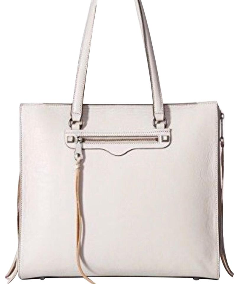 Rebecca Minkoff Regan Always Zip Ivory Leather Tote Tradesy