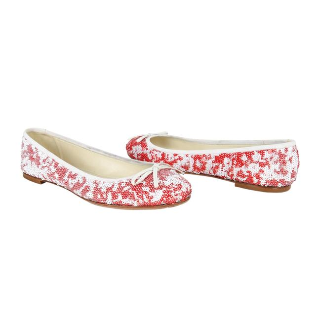 Item - Multicolor Ballet White and Red Sequins / 8.5 Flats Size EU 38.5 (Approx. US 8.5) Regular (M, B)