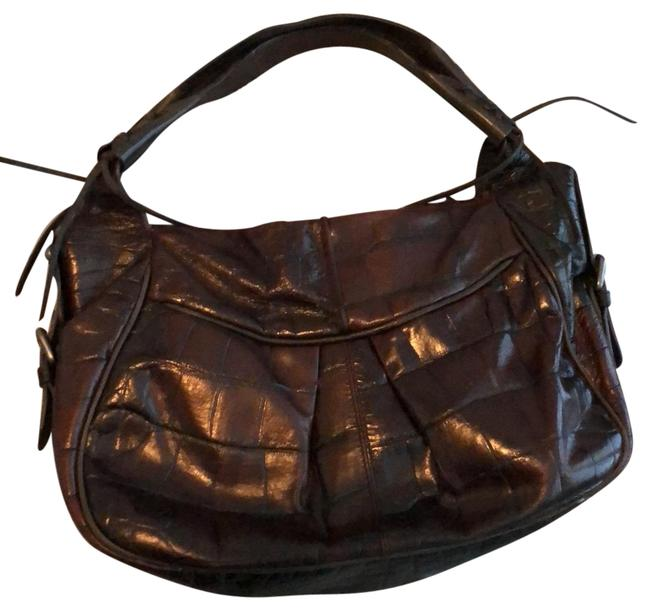 Item - Rich Dark Chocolate Brown Leather Shoulder Bag