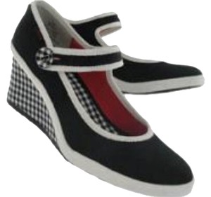 Keds Black And White Wedges