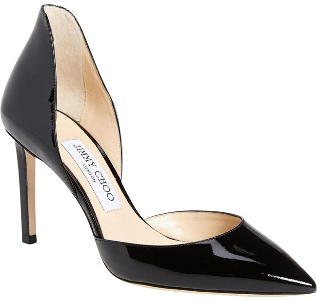 Jimmy Choo Black New Liz 85 Patent Leather D'orsay Pumps Size EU 36 (Approx. US 6) Regular (M, B) Jimmy Choo Black New Liz 85 Patent Leather D'orsay Pumps Size EU 36 (Approx. US 6) Regular (M, B) Image 1