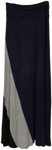 Bobeau Maxi Skirt Navy and Gray