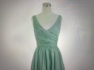 J.Crew Dusty Shale Chiffon Heidi Formal Bridesmaid/Mob Dress Size 4 (S)