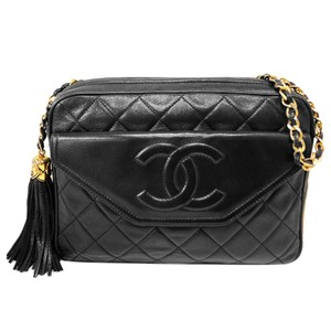 Chanel Vintage Quilted Tassel Cross Body Bag