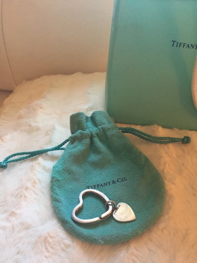 Tiffany & Co. Tiffany & Co.Heart KeyRing/Heart Charm/Suede Pouch