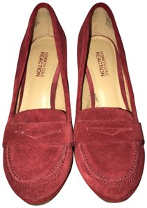 Calvin Klein Loafer Red, Suede Wedges