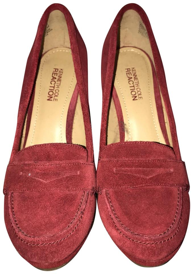 Calvin Klein Red Suede Kenneth Cole Reaction Loafer Wedges Size Us 6.5 Regular M B Calvin Klein Red Loafers Shoes