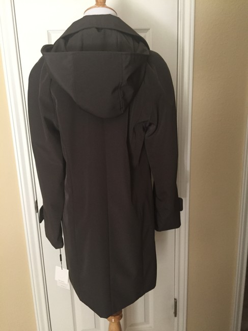 Calvin Klein Lined Button Up Hooded Trench Coat