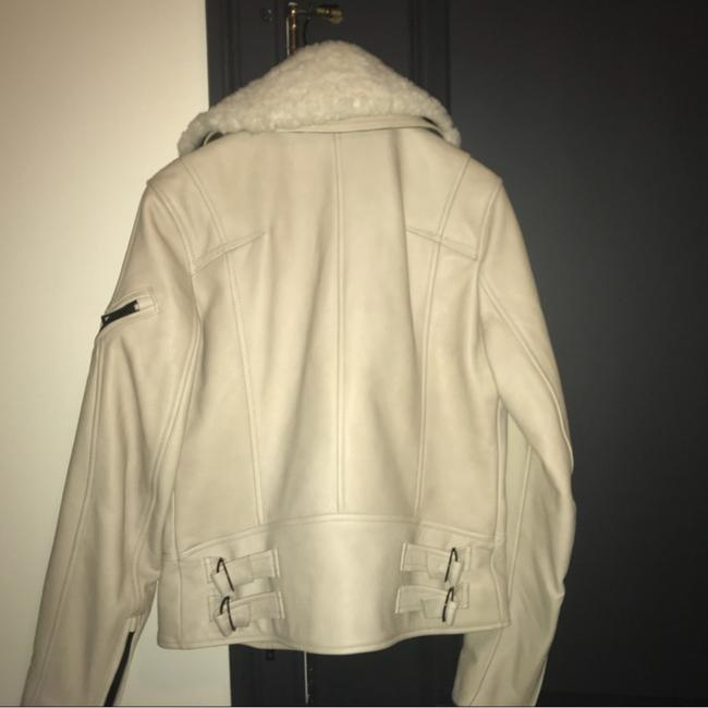 Rag & Bone beige and black Leather Jacket