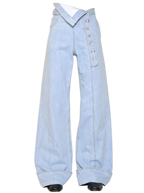 Each x Other Cotton Fashion Forward Chic Trouser/Wide Leg Jeans-Light Wash