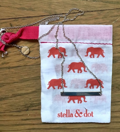 Stella & Dot Stella & Dot Sterling Silver Signature Engraved Delicate Necklace