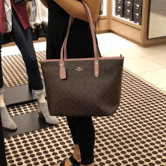 Coach Tote in Dusty Rose/Brown