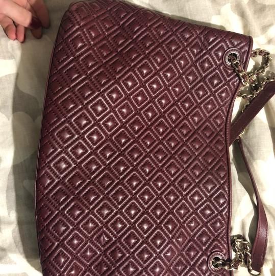 Tory Burch Marion Quilted Tote Bag Tote in Maroon