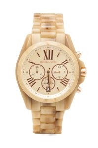 Michael Kors Champagne Bradshaw Chronograph Dial Horn Acetate Ladies Mk5840 Watch
