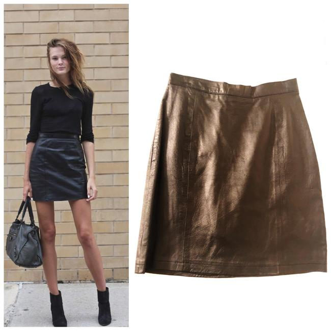 Wilsons Leather Mini Skirt black