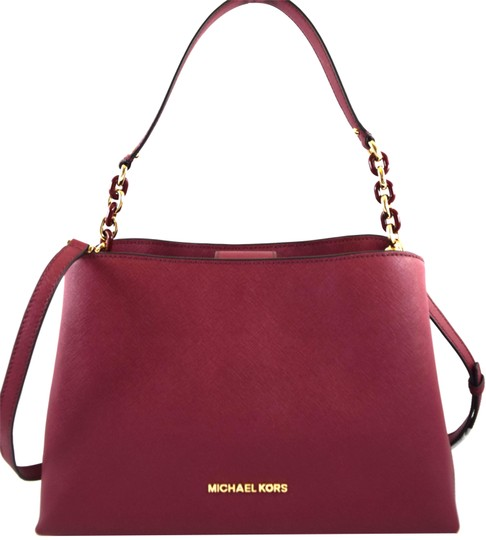 Preload https://img-static.tradesy.com/item/24220190/michael-kors-sofia-red-mulberry-leather-satchel-0-1-540-540.jpg