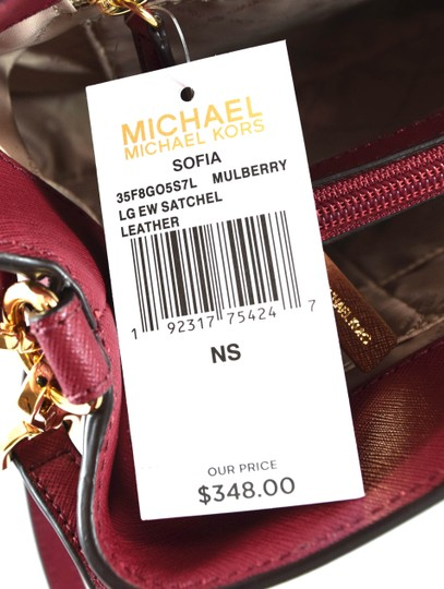 Michael Kors Satchel in Red Mulberry
