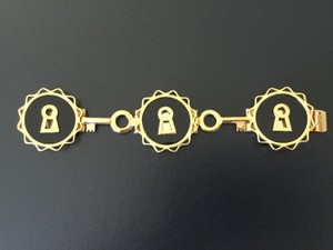 Chanel SUPER RARE VINTAGE CHANEL 1960's COLLECTOR'S KEY BRACELET