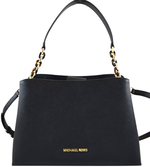 Preload https://img-static.tradesy.com/item/24220223/michael-kors-sofia-black-leather-satchel-0-1-540-540.jpg