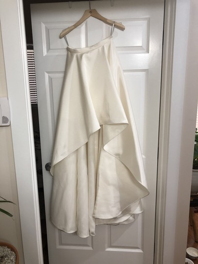 BHLDN White Satin Zelda Modern Wedding Dress Size 4 (S)