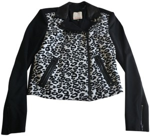 Rebecca Taylor Moto Leopard Winter Printed Motorcycle Jacket