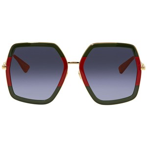 Gucci NEW Gucci 0106S Red Green Oversized Sunglasses
