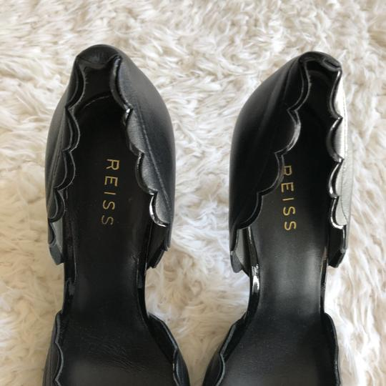 Reiss Scalloped Heels Party Work Classic Black Pumps