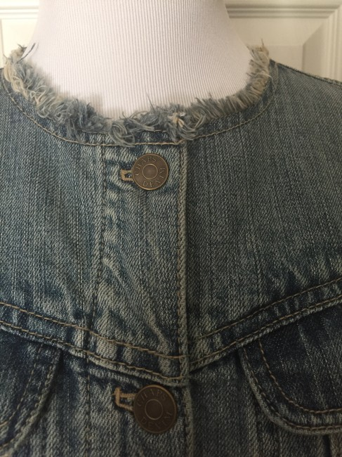 Chaps Light-wash Button Up Womens Jean Jacket