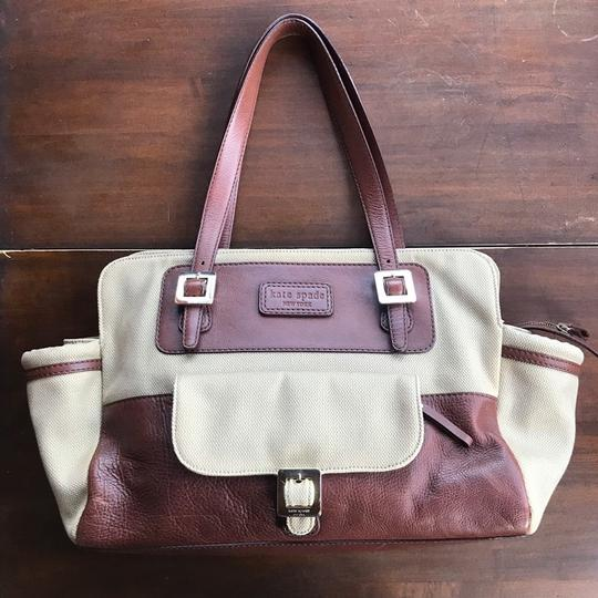 Kate Spade Tote in brown and gold/tan