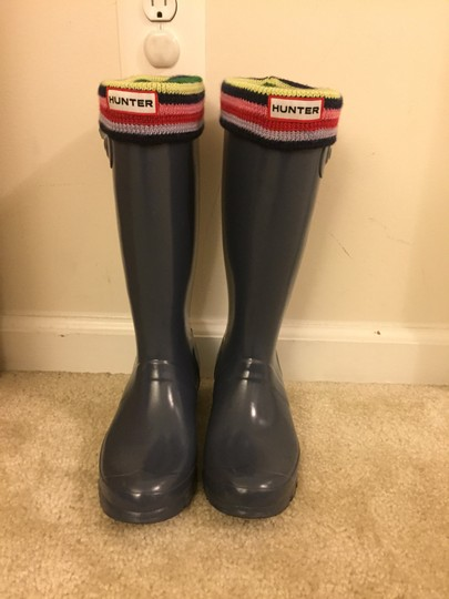 Hunter glossy graphite Boots