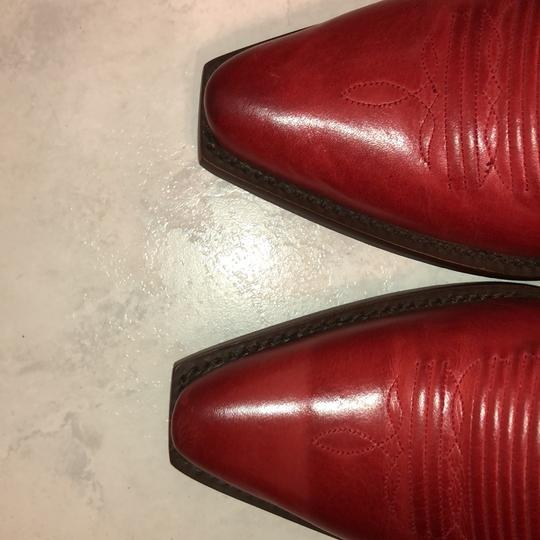 Lucchese red/orange Boots