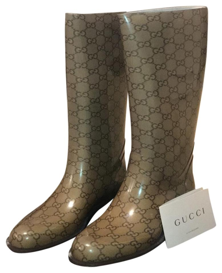 2a88a1451b0 Gucci Cocoa Rainboots Boots Booties Size EU 38 (Approx. US 8 ...