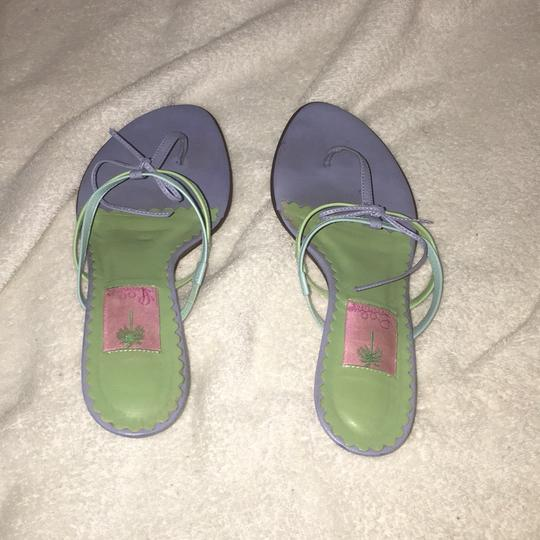 Lilly Pulitzer green and blue Sandals